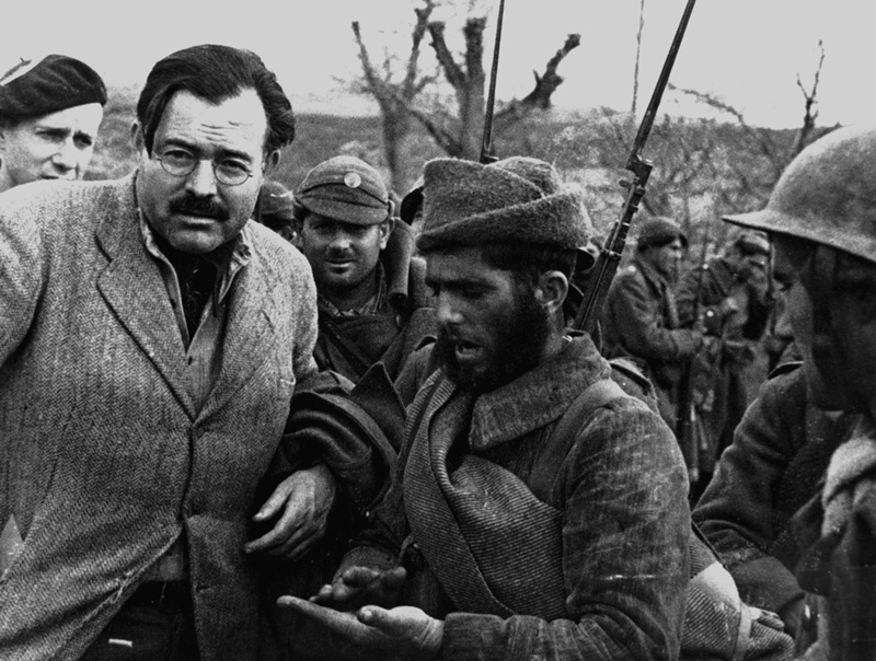 Hemingway with fighters