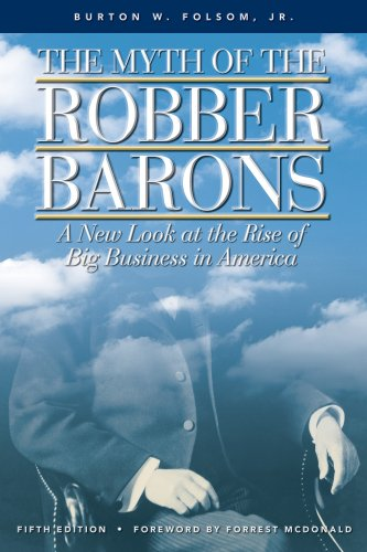 Book cover for the Myth of the Robber Barons
